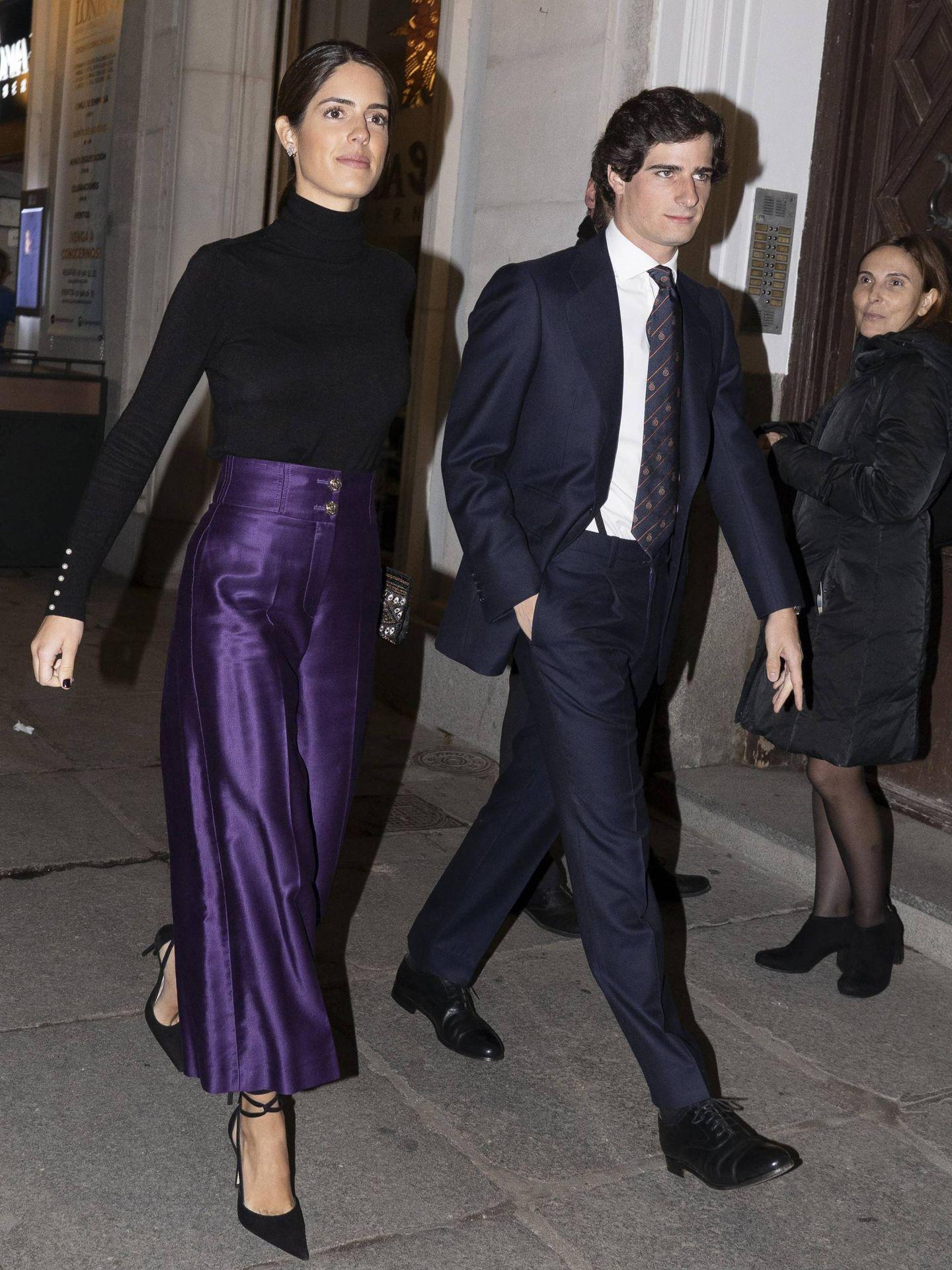 Sofía Palazuelo y Fernando Fitz-James,   llegando al Teatro Real. (Cordon Press)