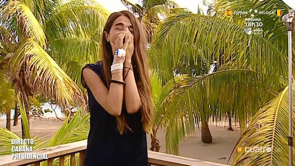 Foto: Violeta, obligada a abandonar 'Supervivientes 2019'. (Telecinco)