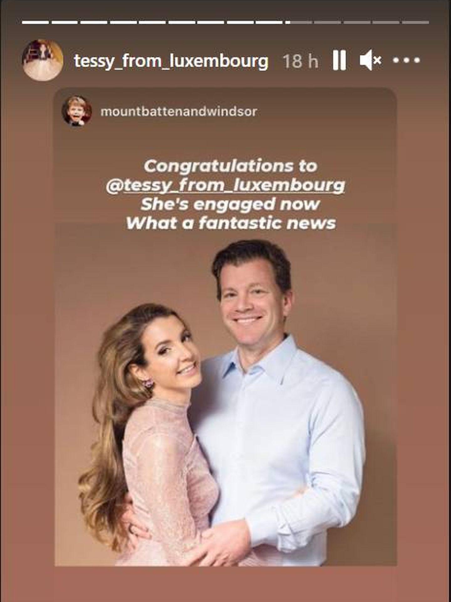 Las felicitaciones que recoge Tessy en sus redes. (IG)