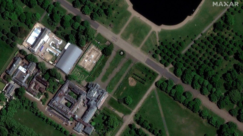 Vista aérea del Palacio de Kensington. (Reuters)