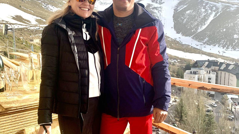 Fiona Ferrer y Javier Fal-Conde, en Sierra Nevada.