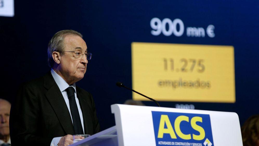 Foto: Florentino Pérez, presidente de ACS (EFE)