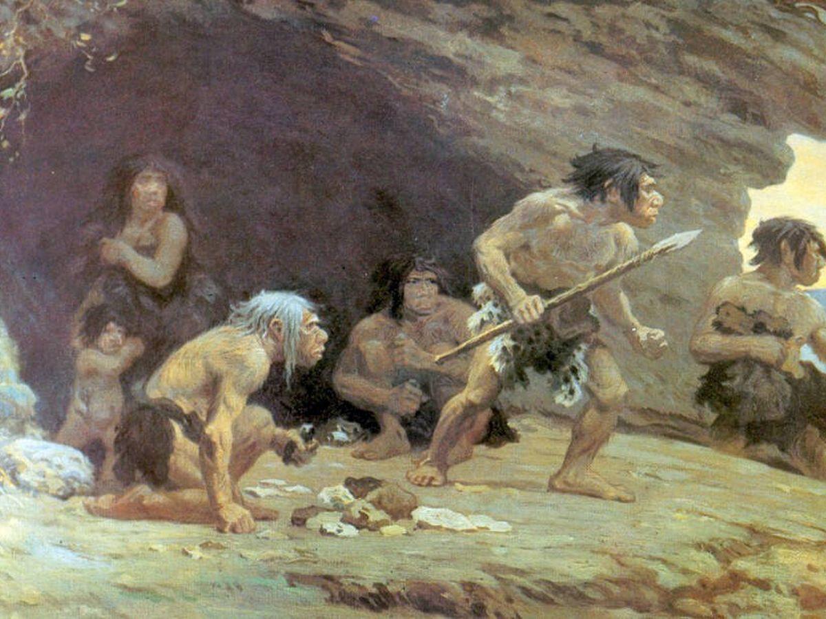 Foto: Representación del Paleolítico. (Wikipedia)