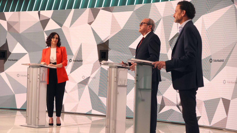 Isabel Díaz Ayuso, Ángel Gabilondo y Edmundo Bal. (EFE)