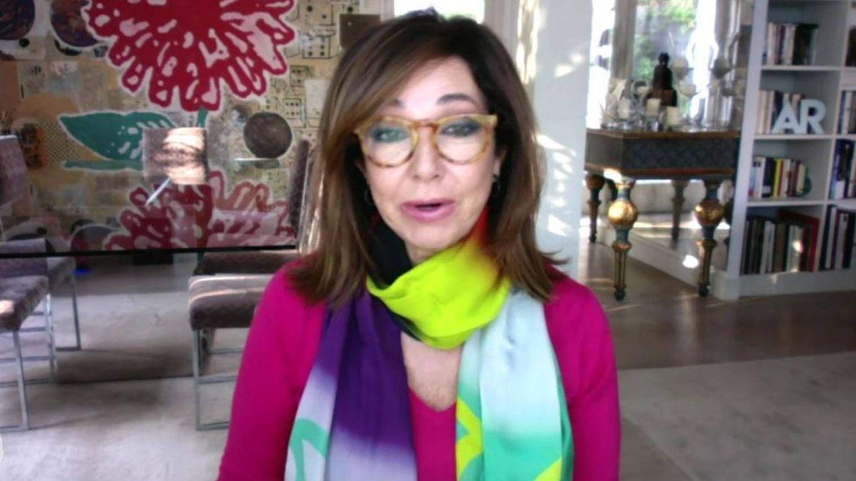 Ana Rosa Quintana, trabajando desde casa. (Mediaset)