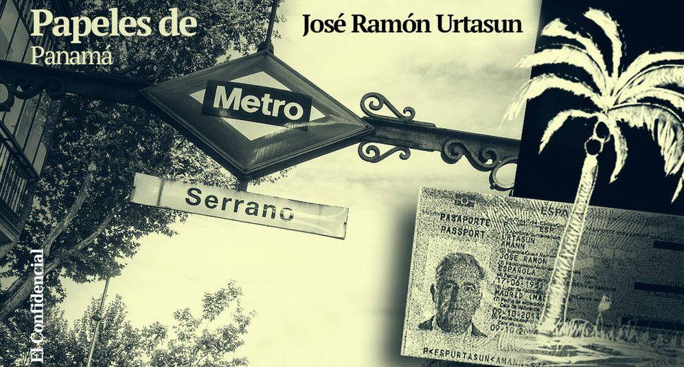 Foto: Montaje con el pasaporte del empresario, tal y como consta en los archivos de Mossack. Enrique Villarino.