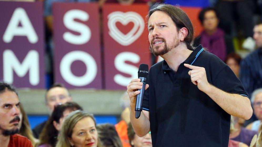 Foto: Pablo Iglesias en un mitin de Unidas Podemos. (EFE)