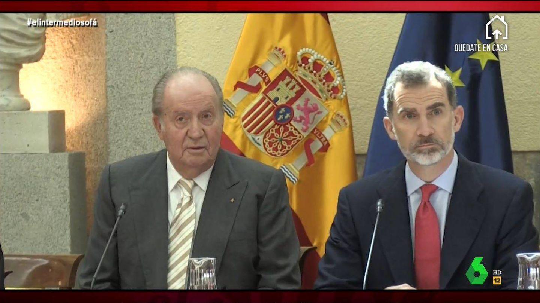 Juan Carlos I y el rey Felipe VI. (Atresmedia)