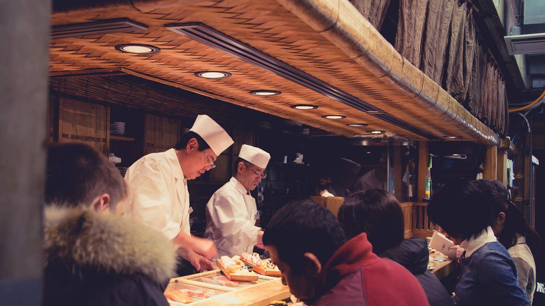 El 'sushiman', siempre a la vista. (iStock)