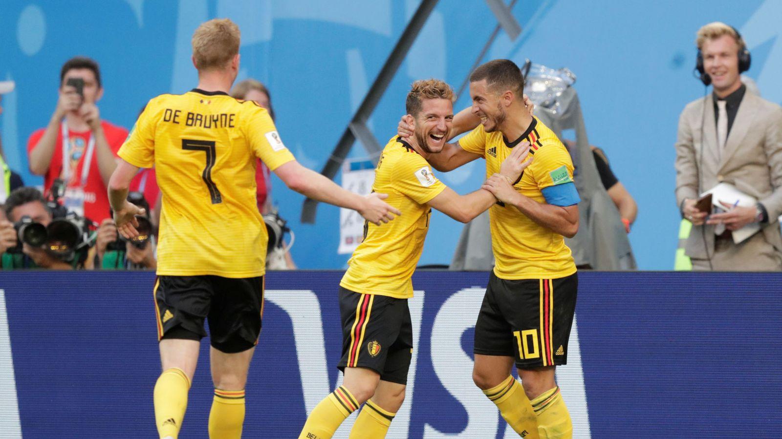 Foto: Hazard metió el segundo gol de Bélgica en el partido contra Inglaterra. (Reuters)