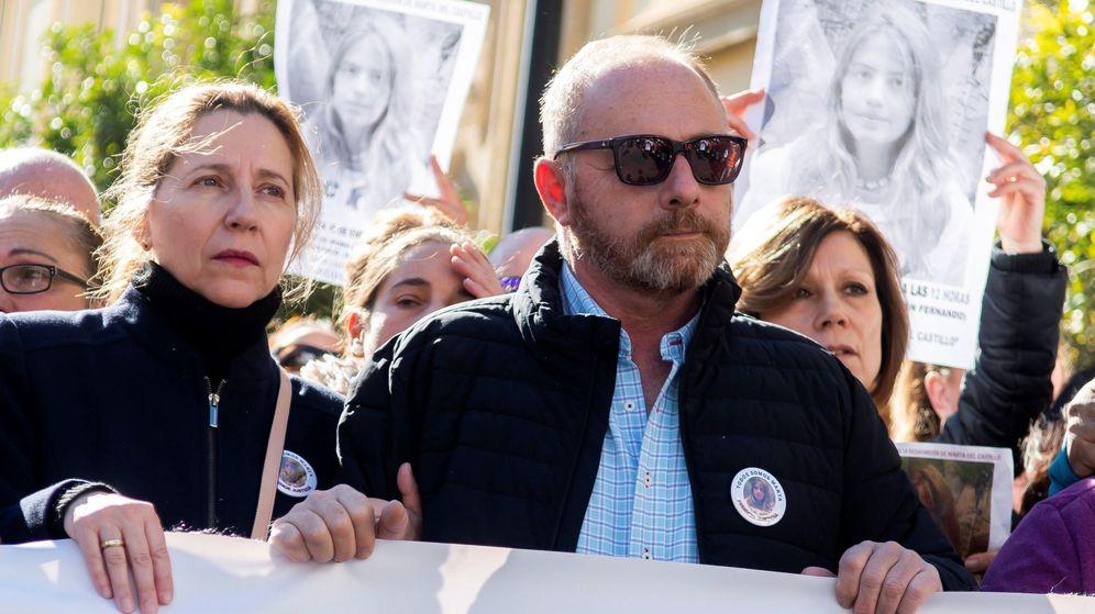 Foto: Los padres de Marta del Castillo en una manifestación convocada por la familia