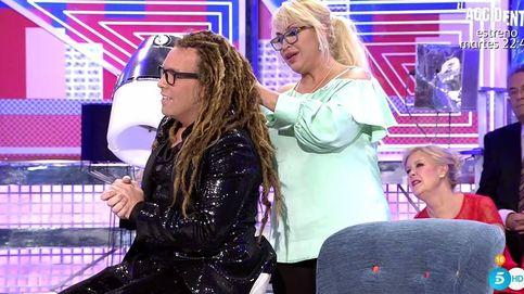 Raquel Mosquera le corta las rastas a Torito en 'Sábado Deluxe'