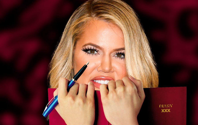 Foto: El diario de Khloé Kardashian (Fotomontaje realizado por Vanitatis)