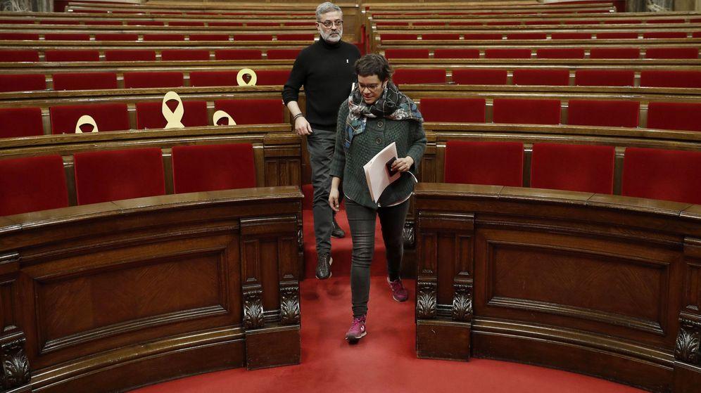 Foto: Los diputados de la CUP, Carles Riera y Natália Sánchez. (EFE)
