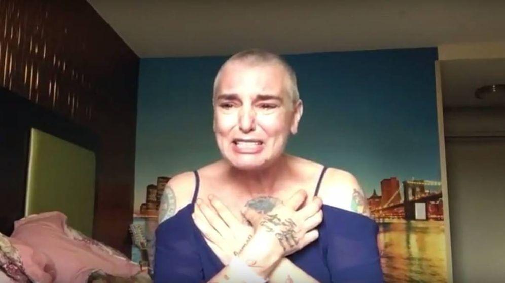 Foto: Sinead O'Connor en una imagen del vídeo de Facebook.