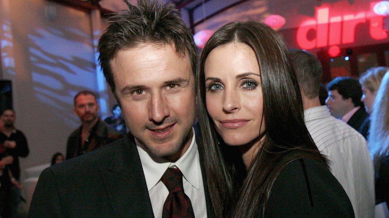 David Arquette y Courteney Cox, en 2006. (Getty)