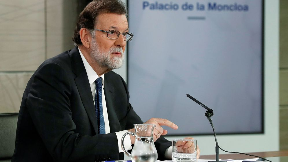 Foto: El presidente del Gobierno, Mariano Rajoy, durante su comparecencia ante los medios. (EFE)