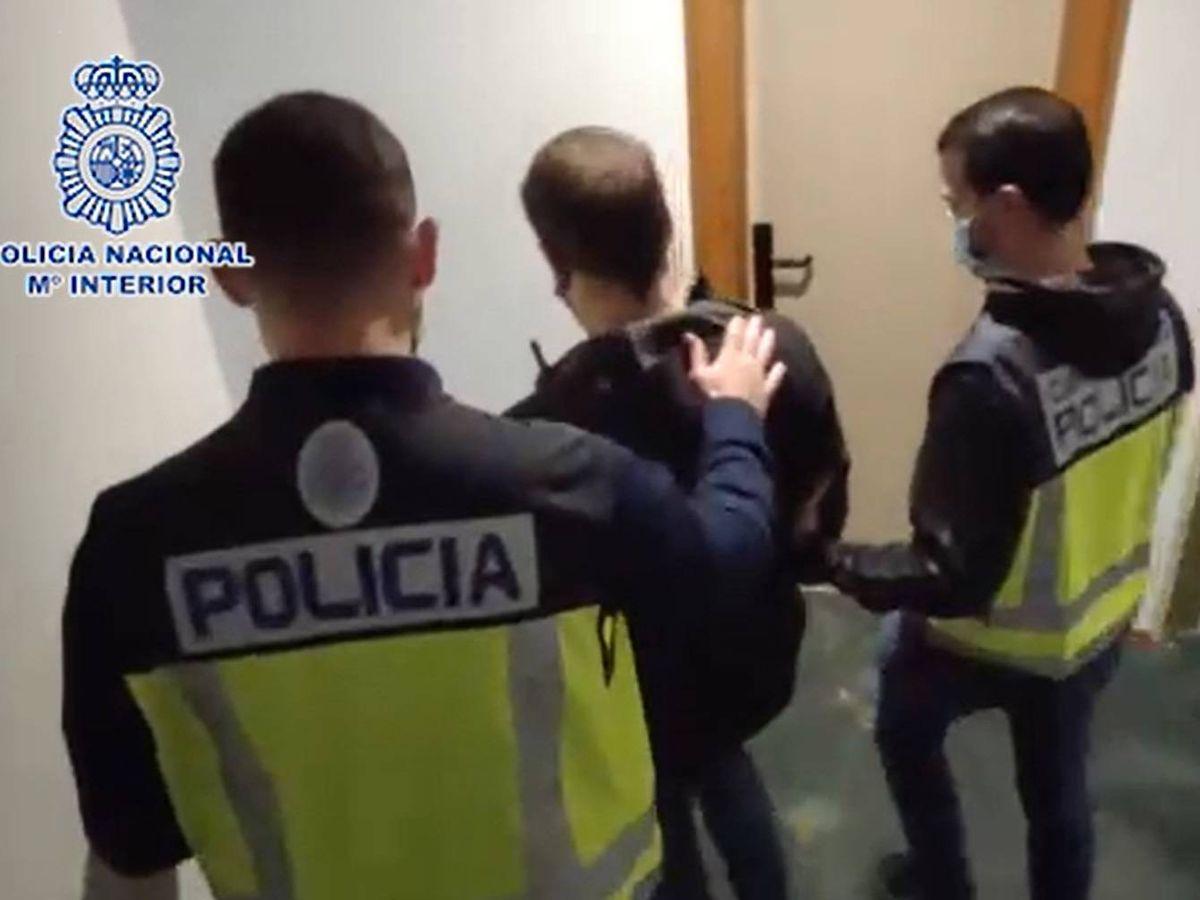 Foto: Detención del falso sanitario. (Policía Nacional)