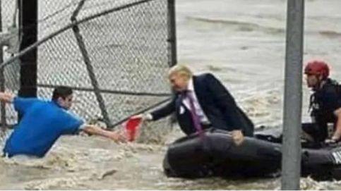 La supuesta foto de Donald Trump ayudando en el huracán Florence es un fake