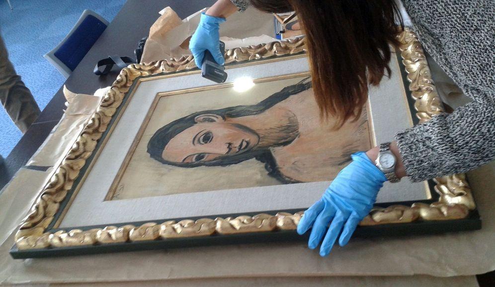 Foto: 'Cabeza de mujer joven', el cuadro de Picasso que poseía Jaime Botín. (EFE)