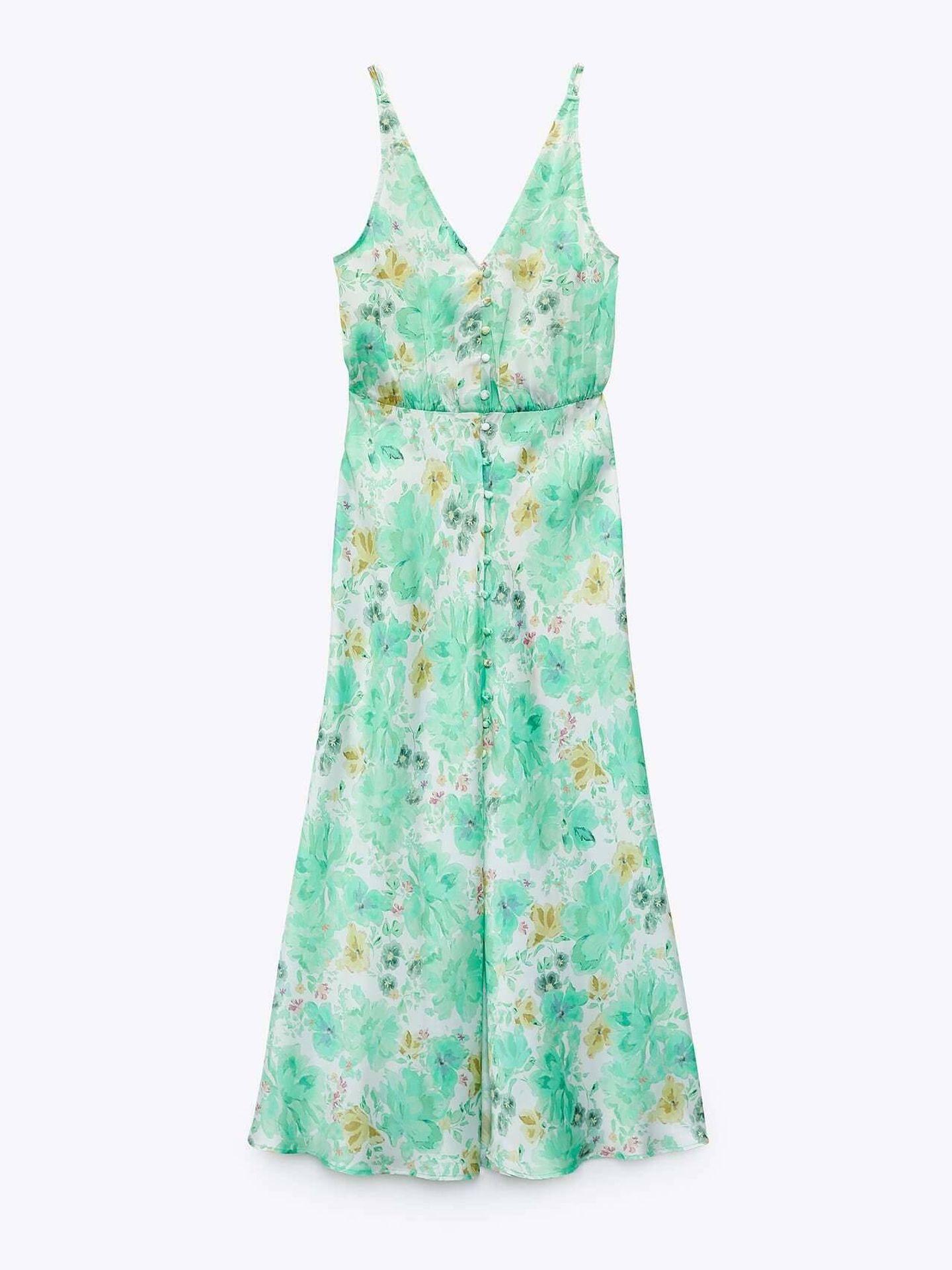 Un vestido con flores de Zara. (Cortesía)