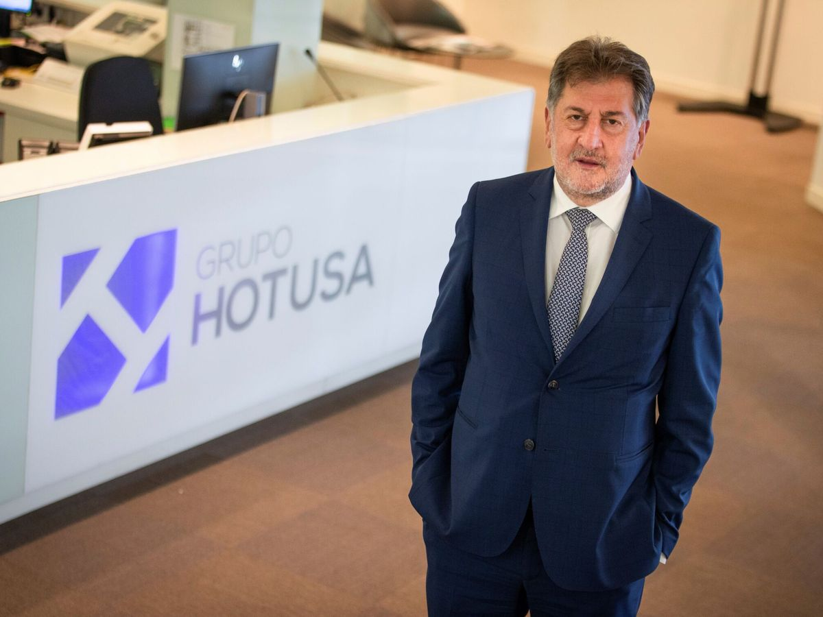 Foto: El presidente de Hotusa, Amancio López. (EFE)