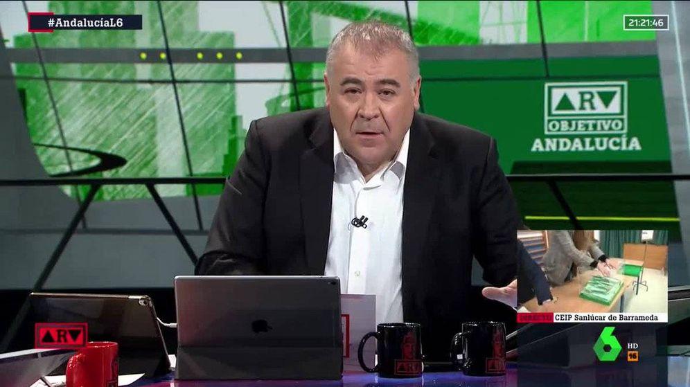 Foto: Ferreras responde la veto de Vox. (La Sexta)