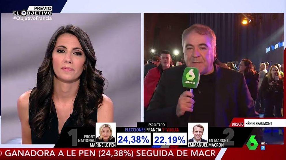 El reportero Ferreras es engullido por los fieles de Le Pen en 'El objetivo'