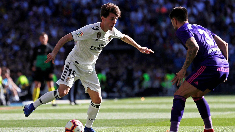 Foto: Odriozola, durante el partido del Real Madrid contra el Celta. (Reuters)