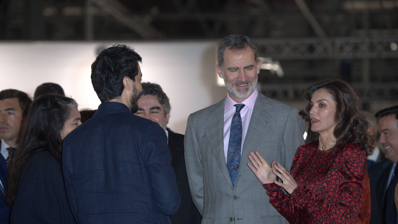 Los reyes Felipe y Letizia, este jueves en ARCO. (Limited Pictures)
