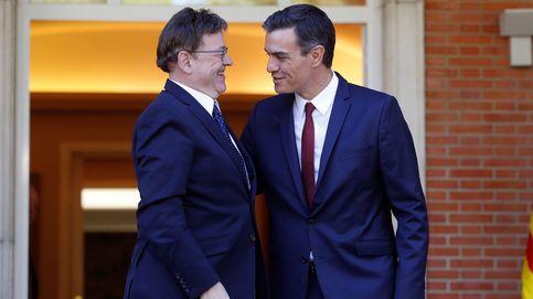 Sánchez da oxígeno a la campaña de Puig con un 60% más de inversiones para Valencia
