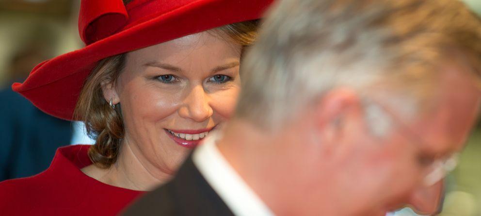 Foto: La reina Matilde de Bélgica el pasado 1 de abril durante un acto oficial. (Gtres)