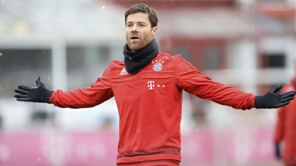 Foto: Xabi Alonso, en un entrenamiento del Bayern de Múnich. (EFE)