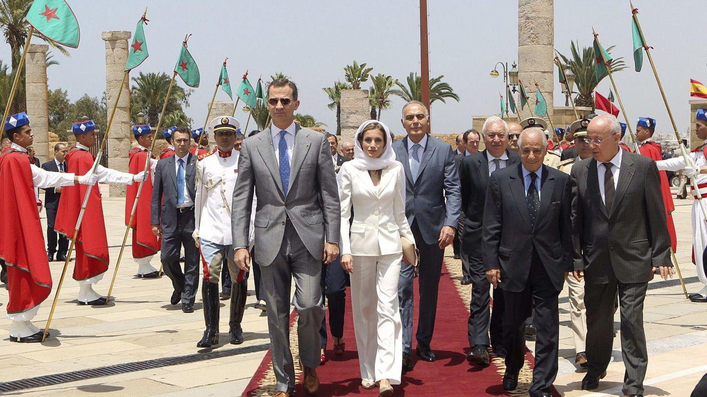 Los reyes Felipe y Letizia en su anterior viaje oficial a Marruecos. (EFE)