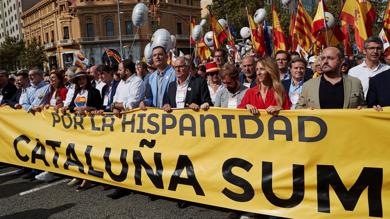 Inés Arrimadas, Carlos Carrizosa, José Manuel Villegas y Lorena Roldan, Alejandro Fernández y Cayetana Álvarez de Toledo. (EFE)