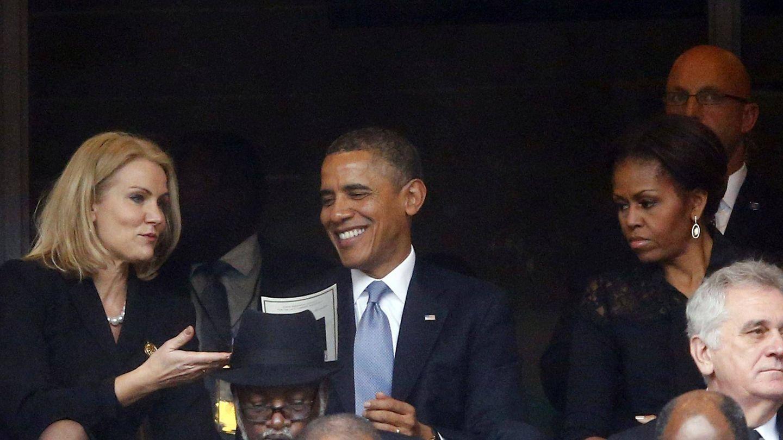 La cara de Michelle era un poema. (Reuters)