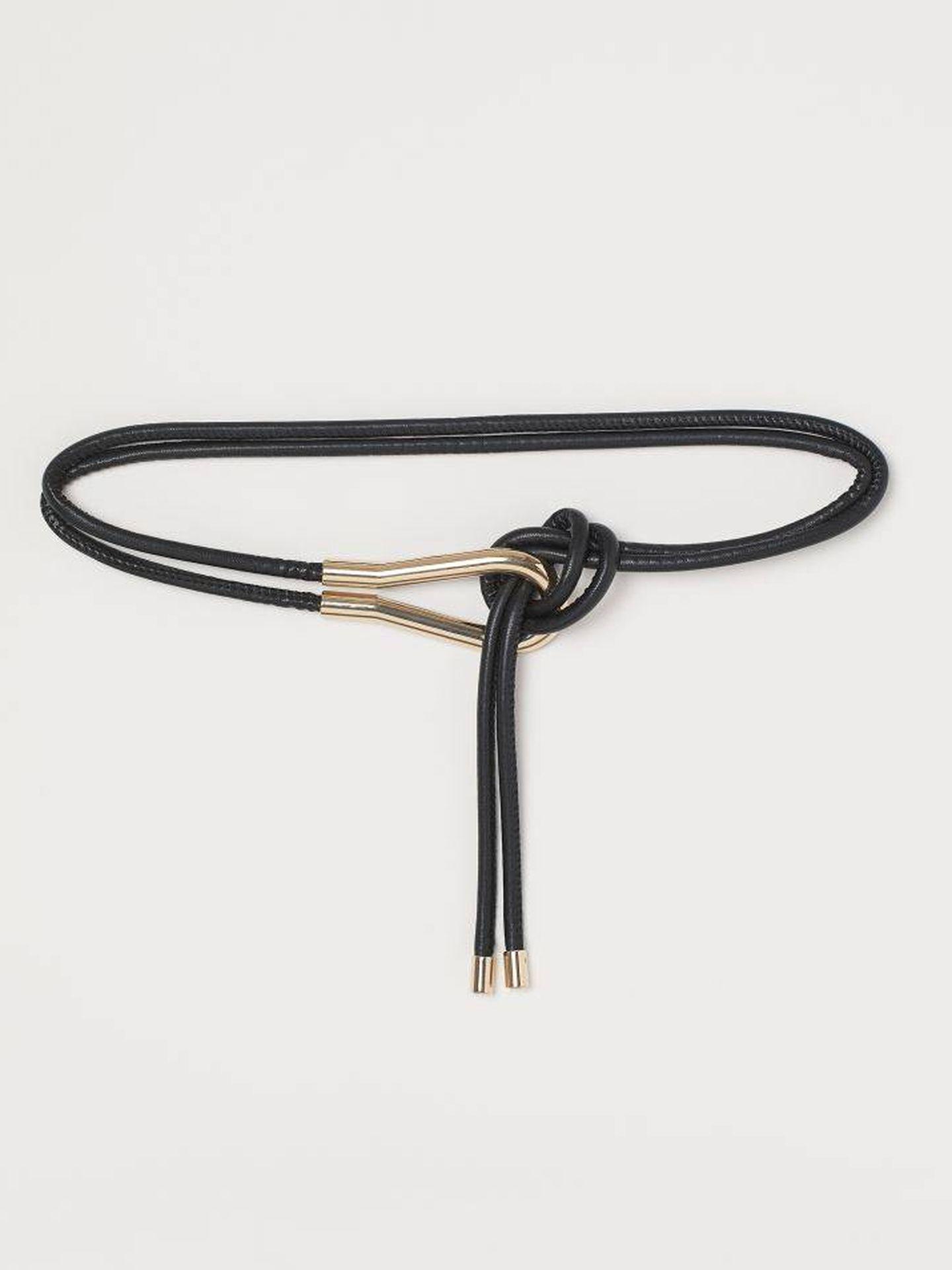 Reduce talla con este cinturón de HyM. (Cortesía)