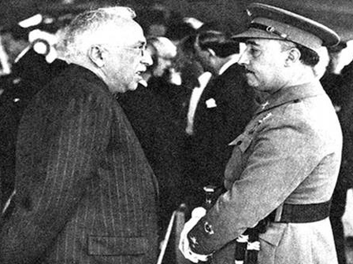 Foto: Niceto Alcalá-Zamora con Francisco Franco.
