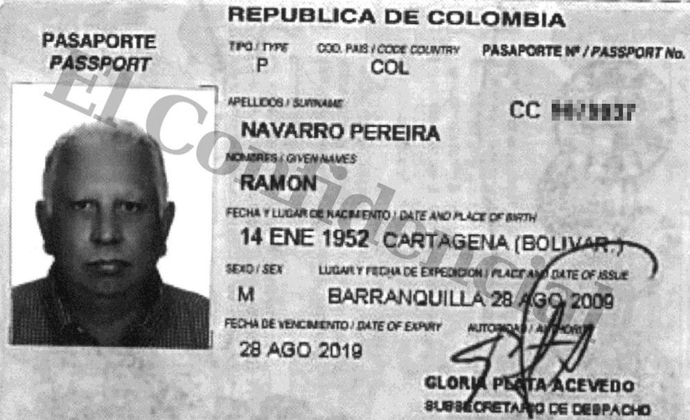 Foto: Copia del pasaporte que Navarro Pereira facilitó a Mossack Fonseca para abrir la empresa.