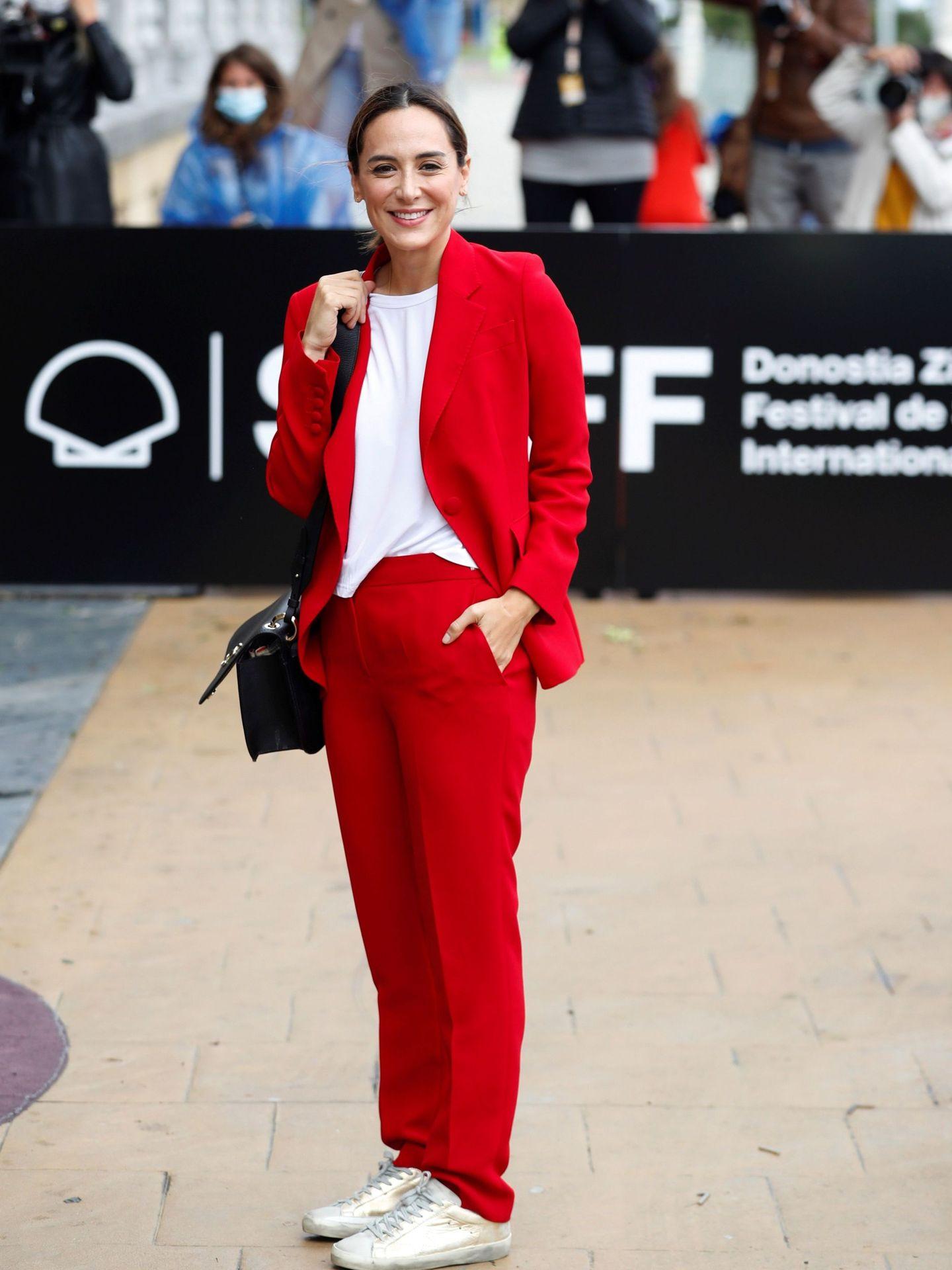 Tamara Falcó, en el Festival Internacional de Cine de San Sebastián. (EFE)
