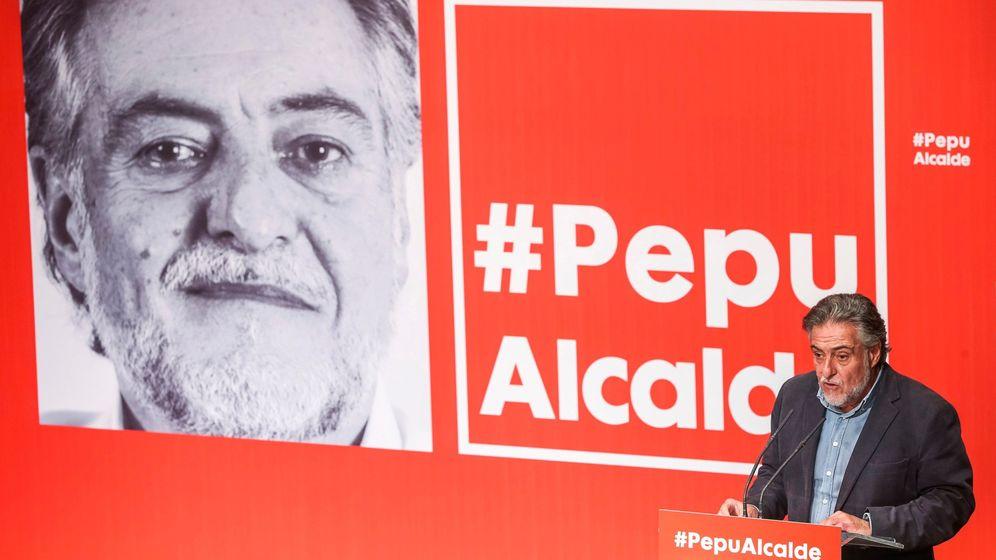 Foto: Presentación de la candidatura de Pepu Hernández al Ayuntamiento de Madrid (Efe)