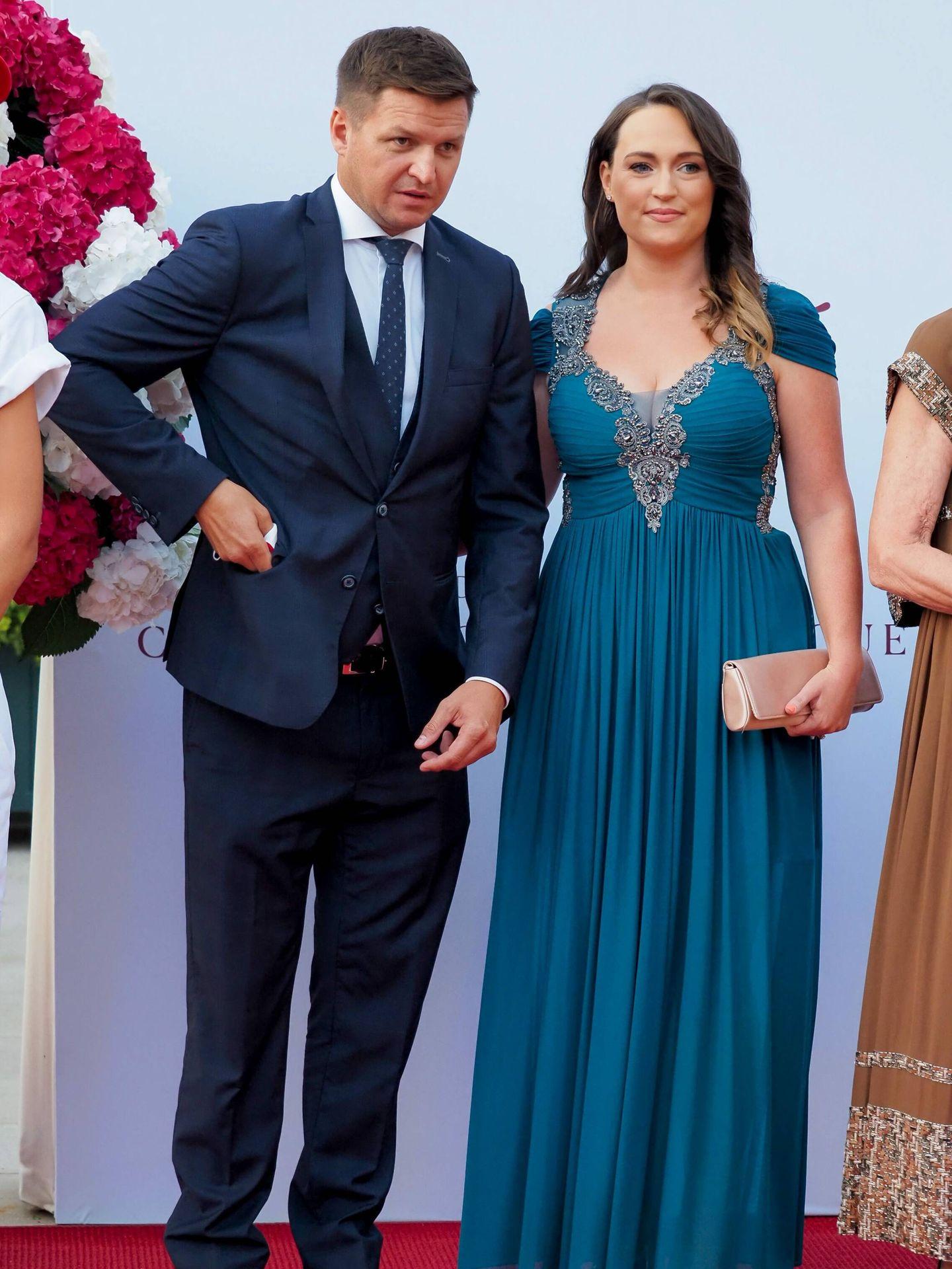 El hermano de Charlène, Gareth Wittstock y su esposa, Roisin Wittstock. (CP)