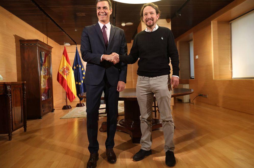 Foto: Pedro Sánchez y Pablo Iglesias, el pasado 11 de junio en el Congreso. (Inma Mesa   PSOE)