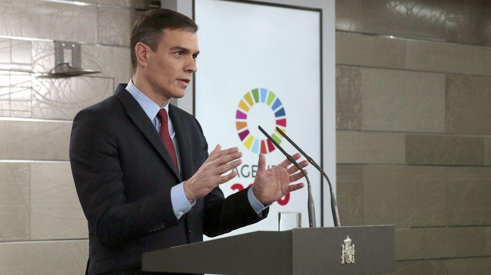 Foto: El presidente del Gobierno, Pedro Sánchez, en su comparecencia de este viernes. (EFE)