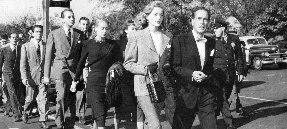 Foto: Bogart y Bacall en Washington en 1947