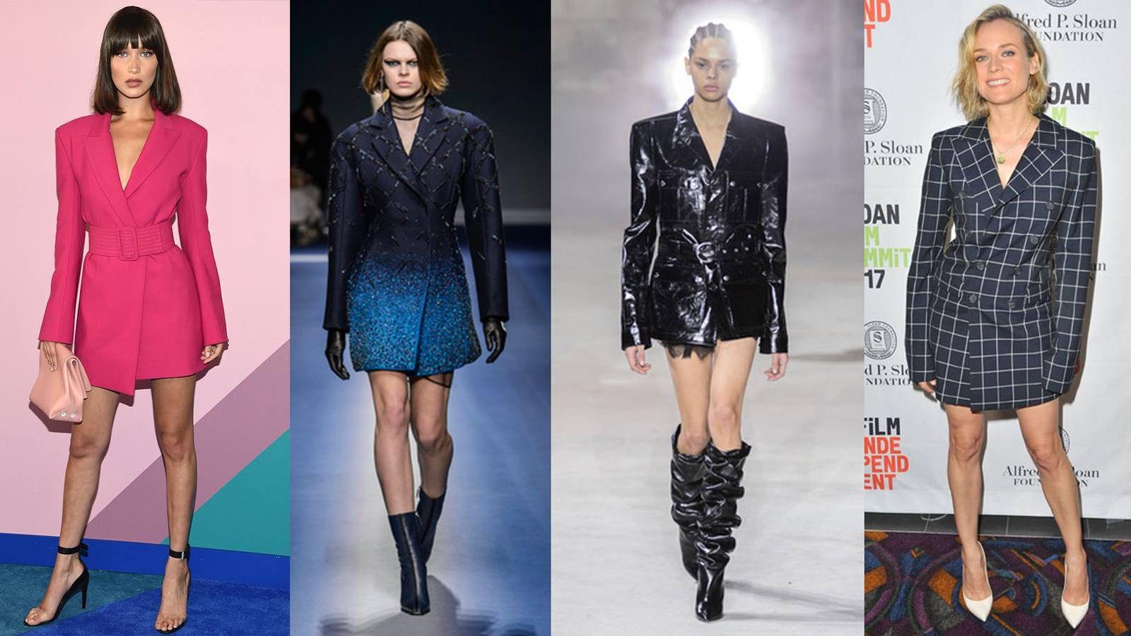 Tendencias  Quítate los pantalones  seis formas de convertir un blazer en  vestido 90c9a6b6bb36
