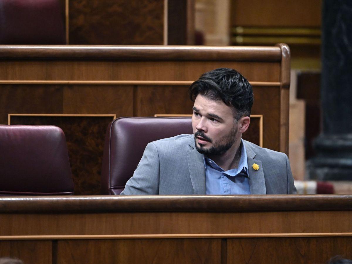 Foto: El portavoz de ERC en el Congreso, Gabriel Rufián. (EFE)