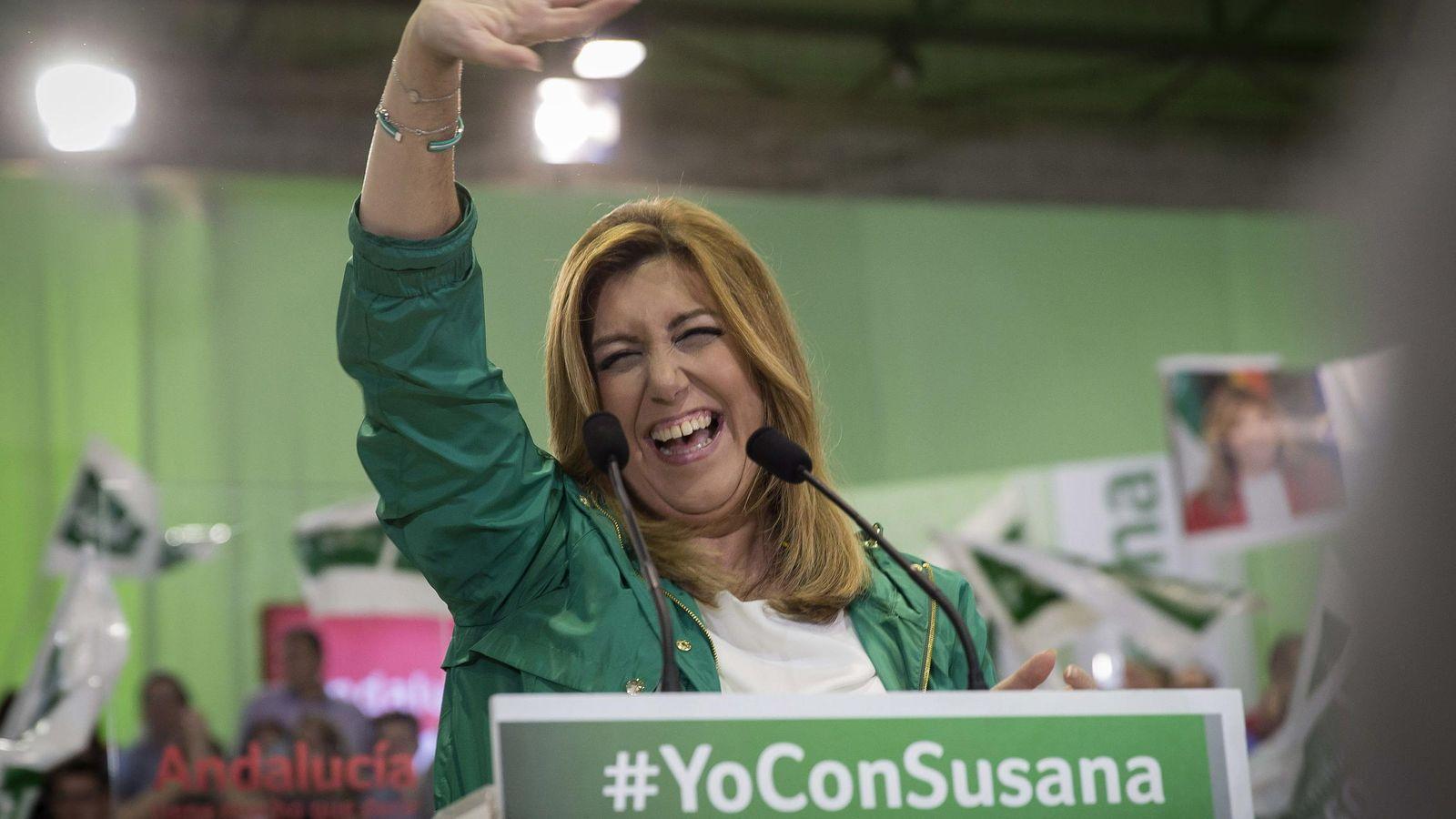 Foto: La candidata socialista a la Presidencia de la Junta de Andalucía, Susana Díaz (EFE)