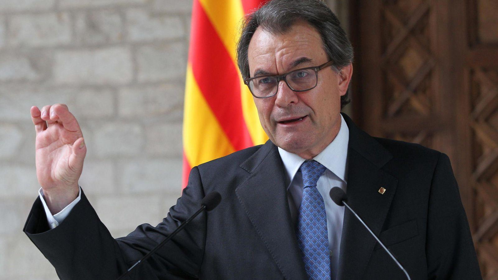 Foto: El presidente catalán, Artur Mas, durante una de sus últimas comparecencias en el Palau de la Generalitat. (Efe)