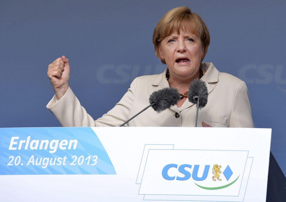 Foto: Angela Merkel, en un acto electoral